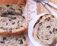 Recette pains aux raisins, noix et cannelle