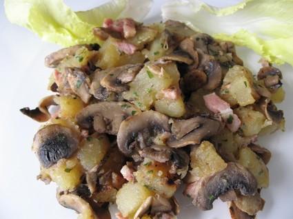 Recette de poêlée pommes de terre aux champignons