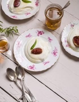 Fromage blanc et figues rôties pour 6 personnes
