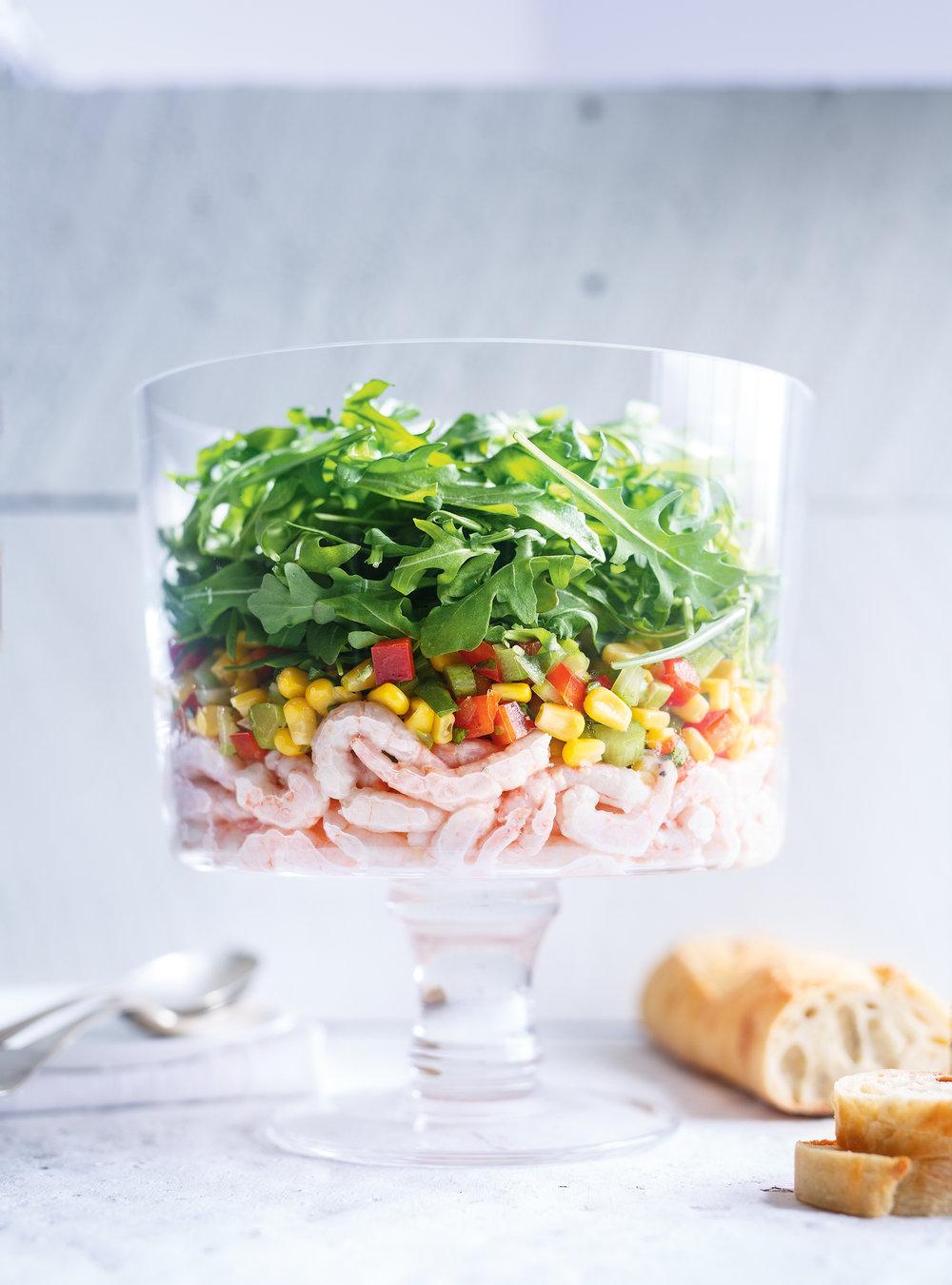 Salade de crevettes nordiques et de maïs | ricardo
