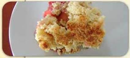 Recette de crumble pommes-fraises