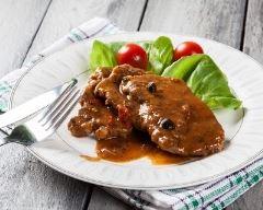 Recette côtes de porc, sauce au poivre