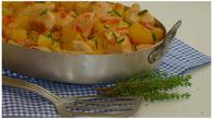 Recette de poêlée campagnarde de pommes de terre, poulet et lardon