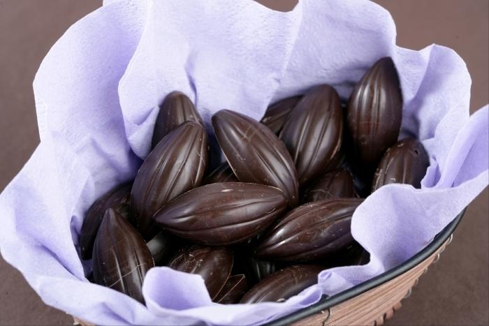 Recette de bonbon au chocolat, ganache chocolat au lait miel et citron