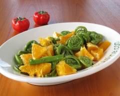 Recette salade de têtes de violon et orange