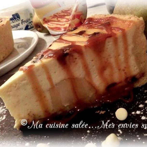 Recette tarte au fromage frais , poires et pépites de chocolat