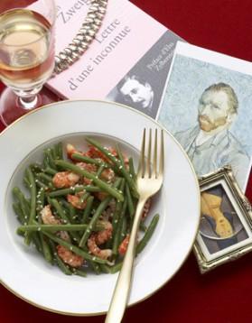 Salade de haricots verts aux écrevisses pour 4 personnes