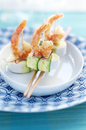Recette de sushi en cas de caprice courgette et crevettes grillées ...