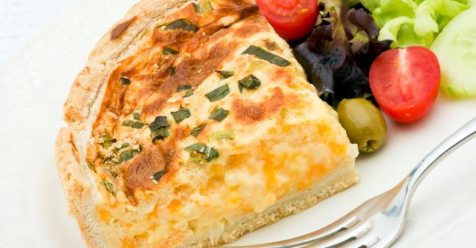 Recette de tarte à la mozzarella light parfumée aux herbes de ...