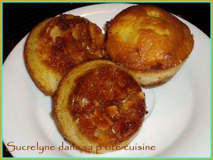 Recette de moelleux ananas sur caramel aux amandes