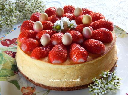 Recette cheesecake au citron et aux fraises (gâteau)