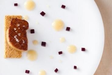 Recette de foie gras poêlé, sablé noisette fleur de sel, purée de ...