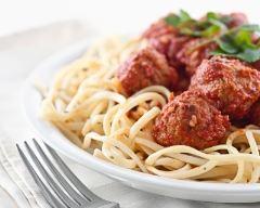 Recette spaghetti aux boulettes de bœuf