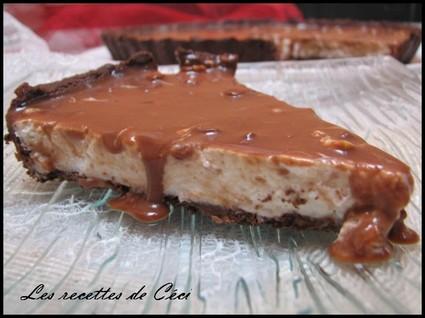 Recette de tarte à la mousse coco et miroir au toblerone