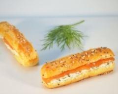 Recette minis-éclairs au saumon fumé