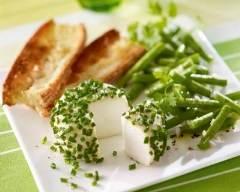 Recette crottin de chèvre à la ciboulette et haricots verts
