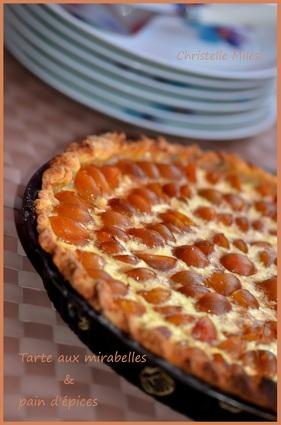 Recette de tarte aux mirabelles & pain d'épices
