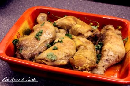 Recette de poulet à la coriandre, citron vert et sauce aux épices