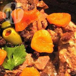 Recette tajine d'agneau aux abricots secs et aux olives vertes ...