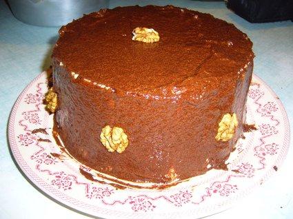 Recette de gâteau au chocolat et noix façon charlotte