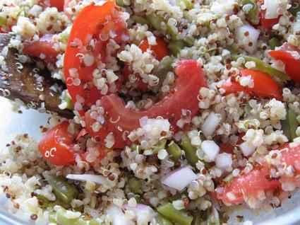 Recette de salade au quinoa gourmand