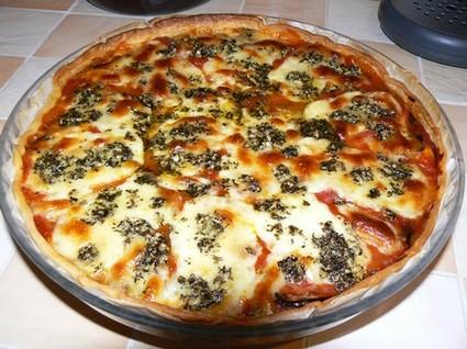 Recette de tarte italienne au jambon cru, aubergine et mozzarella ...