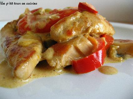 Recette escalopes de dinde aux poivrons et à la crème