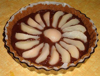 Recette de tarte poires, chocolat et spéculoos