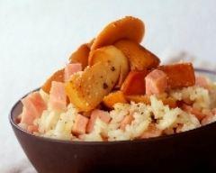 Recette risotto aux cèpes et au jambon