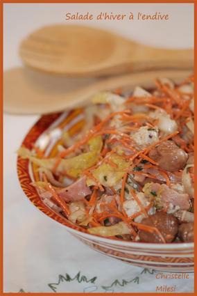 Recette de salade d'hiver à l'endive