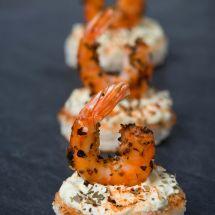 Crevettes sautées au paprika