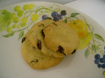 Recette de cookies américains aux raisins