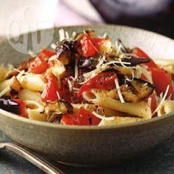 Recette pennes aux tomates fraîches et aubergines grillées ...