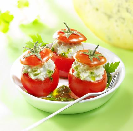 Recette de tomates cerises farcies à la fourme de montbrison et ...