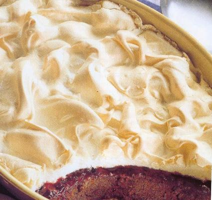 Recette de gâteau chocolat/cerise meringué