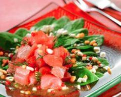 Recette salade de thon mariné au poivre rose