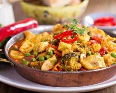 Recette curry végétarien au tofu et aux légumes