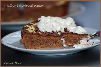 Recette de gâteau moelleux à la crème de marron