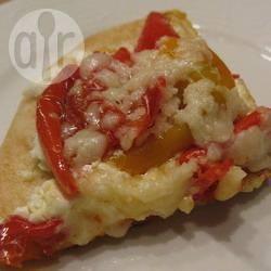 Recette pizza pita au chèvre et aux poivrons – toutes les recettes ...