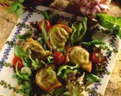 Recette toasts au thon sur lit de salade