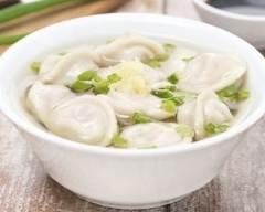 Recette soupe aux raviolis chinois