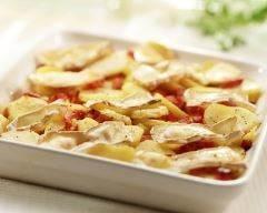 Recette gratin de pommes de terre et tomates léger