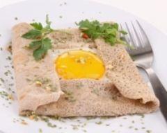 Recette crêpe complètes au jambon et emmental