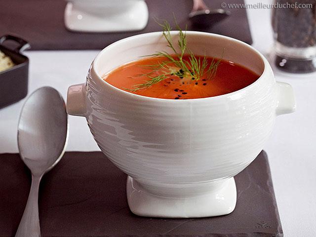 Potage de tomates  recette de cuisine illustrée  meilleurduchef.com