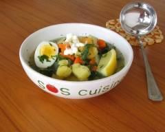 Recette soupe de légumes racine à l'aneth