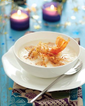 Recette de velouté de chou-fleur aux langoustines et foie gras ...