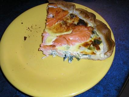 Recette de tarte aux poireaux et saumon fumé