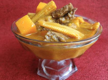 Recette de curry de boeuf au potiron