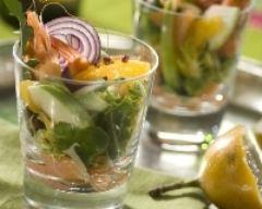 Recette salade de saumon fumé aux pommes et à l'orange