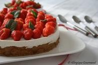 Recette de cheesecake à ma façon, aux fraises, sans œufs ni gluten ...